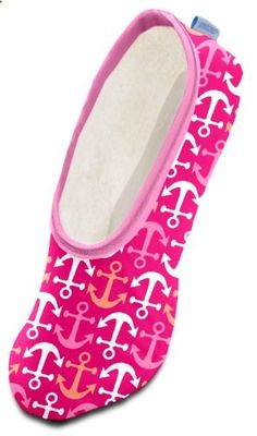 b685e49b5140 Snoozies by the Sea Women's Lightweight Skinnies Footcovering Slippers  (Medium, Anchors Away).