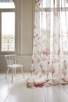 Magnolia - Christian Fischbacher Fabric available from Canterbury Drapes www.canterburydrapes.co.nz
