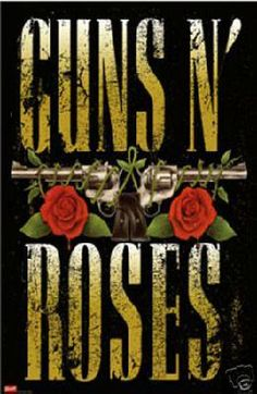 "New Poster 24""x 36"" Guns and Roses Free Shipping"