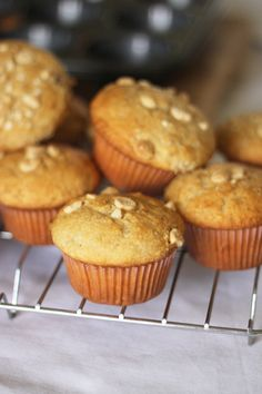 food on paper: Banana Muffins - Made them, they are yummm; added honey and sprinkled almond flakes