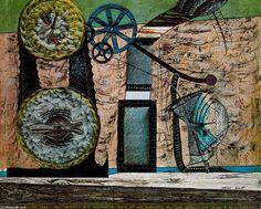 Max Ernst - La taberna a las orillas del Lahn, mixed-media collage