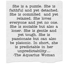The aquarius woman