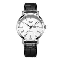 0124743550fa FREE US SHIPPING. Authentic Rotary GS05300 01 Men s Watch Classic White  Dial With Day