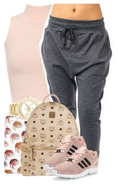 """Sem título #2181"" by isabellacarolina161 ❤ liked on Polyvore featuring WearAll, Michael Kors, MCM and adidas Originals"