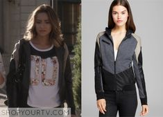 Pretty Little Liars: Season 5 Episode 17 Emily's Leather Panel Hoodie