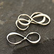 Small Sterling Silver Infinity Link - Figure Eight Charms, Links, Connectors, Love, Sideways Charms