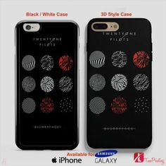 21 Pilots Logo Twenty One Pilots Blurryface - Personalized iPhone 7 Case, iPhone 6/6S Plus, 5 5S SE, 7S Plus, Samsung Galaxy S5 S6 S7 S8 Case, and Other