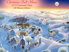Christmas Full Moon December 25 @ 11:11 - Universal Time All Planets Direct  #fullmoon #christmasfullmoon - http://ift.tt/1oNRVdq