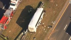 A football team charter bus crashed in North Carolina, killing 4 people, CNN affiliate WTVD reported. The bus carrying the high school team hit an overpass.