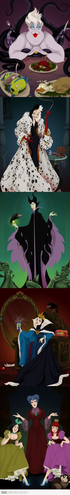 Disney Villains Happy Ending -- what the baddies dream about
