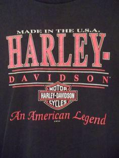 Harley Davidson Motorcycles AMERICAN LEGEND Graphic Tee Shirt - ROSWELL, GA  XXL #HarleyDavidson #GraphicTee