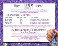Host a Nail Bar - Color Street  www.mycolorstreet.com/nailsaz 100% Nail Polish Strips, one step application, no heating, lasts up to 14 days! Kristen Trussell Color Street