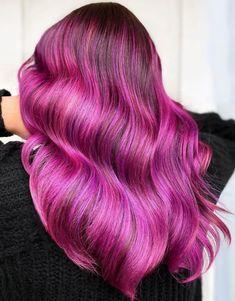 Pink And Orange Hair, Dark Pink Hair, Rose Pink Hair, Bright Pink Hair, Pink Ombre Hair, Pastel Pink Hair, Hair Color Pink, Hair Colours, Colorful Hair