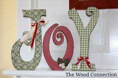 The Wood Connection: Large Joy Letter Set