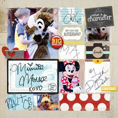 """Disney Digital Project Life page created by AmberR, featuring """"Project Mouse: Bundle No. 3 - Character Moments"""" by Sahlin Studio & Britt-ish Designs"""