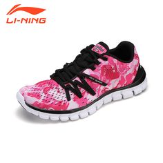 Li-Ning Women Running Shoes Training Women Sneakers Lace-Up Breathable Damping Indoor Floral Light Sport Shoes LiNing Brand