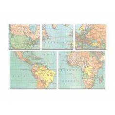 Haftnotizzettel Weltkarte