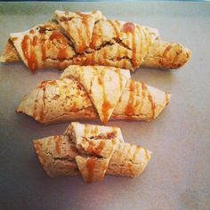 Paleo Croissants with a Caramel Drizzle by @808PaleoGirl