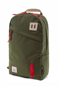 Been looking at backpacks that accommodate laptops. This one is neat.  Topo Designs Daypack Olive