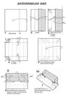 how to make a rectangulare box out of paper