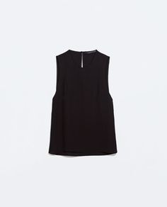 ZARA - WOMAN - TOP WITH SIDE SLITS $70