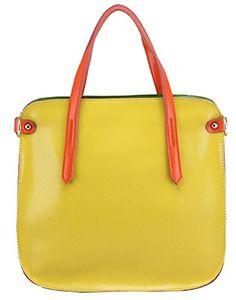 Women Shoulder Handbag Candy Color Tote Handbag,Yellow Material genuine  leather Size 30x5x28cm Internal structure cell phone pocket,interior zipper  pocket. 04543ec952