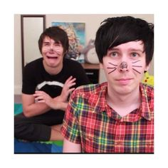 Tumblr ❤ liked on Polyvore featuring dan and phil, youtube, images and people