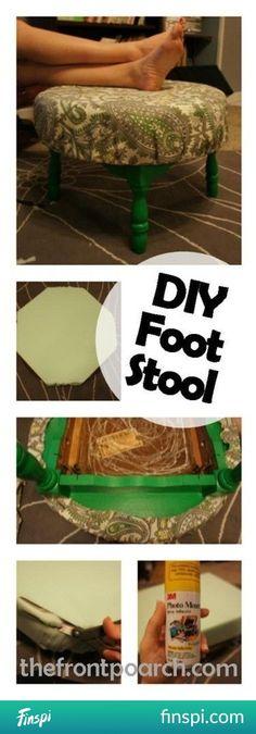 DIY Foot Stool | The Front Poarch #diy #nogi #jak zrobić #Chcee #articles #closets #taborety #taborety stóp
