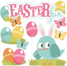 Easter Fun-Girl - SVG scrapbooking files