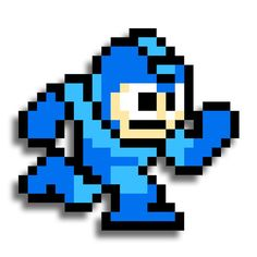 """8 Bit 3"""" Mega man old school. All Stickers are 3M vehicle grade fully laminated."""