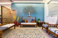 Living Room Colors For Your Contemporary Indian Home! – Pani Poori – Liv… Living Room Colors For Your Contemporary Indian Home! – Pani Poori – Living Room Colors For Your Contemporary Indian Home! Living Room Colors For Your Contemporary Indian Home! Living Room Designs India, Ethnic Living Room, Best Living Room Design, Indian Living Rooms, Simple Living Room, Modern Living, Cozy Living, Interior Design Pictures, Living Room Interior
