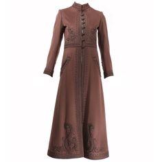 Yves Saint Laurent Haute Couture Russian Passementerie Coat #26438   1stdibs.com