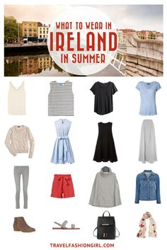 Planning a trip to Ireland in the Summer? Use this packing list to help you pack light for your trip. Click here for a comprehensive packing list for Ireland in Summer. | TravelFashionGirl.com