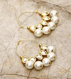 Pearl Indian earrings