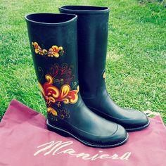 Maniera Retro rain boots - I <3 these cute boots! So comfy :) #review