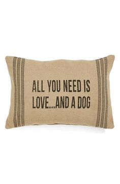 All you need is love...and a dog.