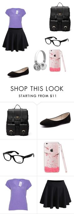 """""""School"""" by tokyocity7 on Polyvore featuring Sole Society, Verali, Ray-Ban, Zadig & Voltaire, WithChic and Master & Dynamic"""