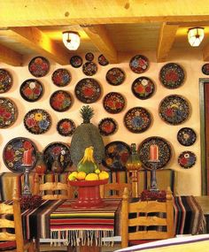 Mexican Decor - to see more visit www. Mexican Restaurant Design, Mexican Interior Design, Interior Design Colleges, Restaurant Ideas, Mexican Hacienda, Hacienda Style, Hacienda Decor, Affordable Home Decor, Cheap Home Decor