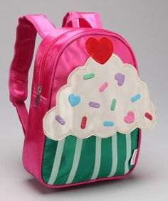Adorable and sweet! Take a look at this Fuchsia Cupcake Backpack by Princess Expressions on #zulily today!