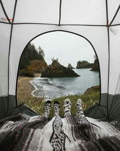 Camping with a view.