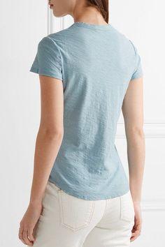 James Perse - Slub Cotton-jersey T-shirt - Light blue - 0