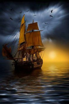 Power boats awesome tall ships ideas for 2019 Nature Pictures, Beautiful Pictures, Bateau Pirate, Old Sailing Ships, Ship Paintings, Pirate Life, Sail Away, Power Boats, Ship Art
