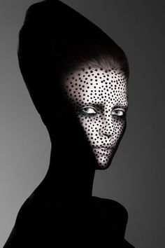 The UK photographer Rankin captures the brilliance of makeup artist Caroline Saulnier.