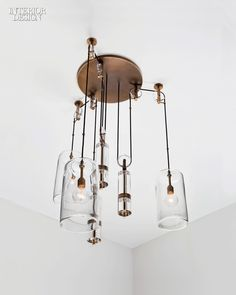 From acrylic-cord shades and LED pendants to handblown chandeliers, these newly introduced lighting fixtures add a serious dose of style to any interior space.