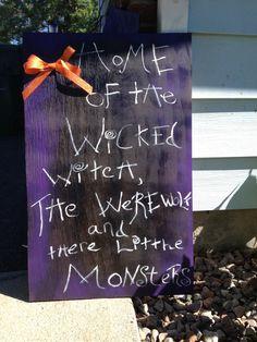 Halloween DIY sign
