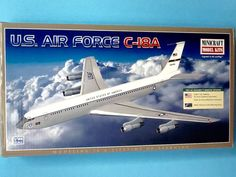 Air Force C-18 (707) Jet Transport 1/144 Scale Model Kit by Minicraft by mancavestuff on Etsy