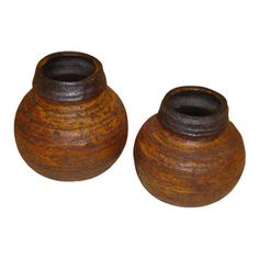 60s Auli Heinonen Chamotte Vases for Arabia