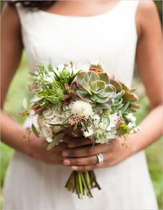 Succulent wedding bouquet - lovely