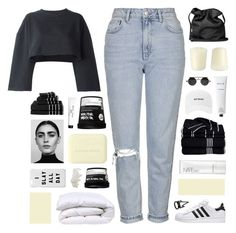 """//b u m b l e b e e//"" by lion-smile ❤ liked on Polyvore featuring Topshop, Ann Demeulemeester, NARS Cosmetics, Rodin Olio Lusso, Retrò, adidas Originals, Williams-Sonoma, Charlotte Russe, Bobbi Brown Cosmetics and Bottega Veneta"