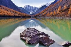 Maashey lake at Altai mountains, Russia